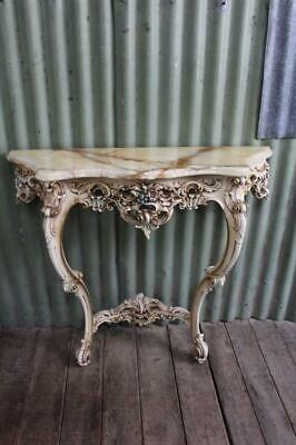 AU595 • Buy A Stunning Ornate Vintage French Baroque Rococo Marble Top Hall Console Table