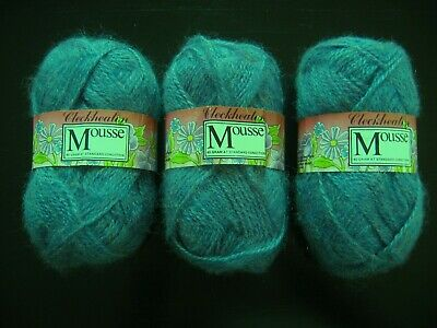 AU11 • Buy 120g Cleckheaton 8 Ply Mousse Mohair Variegated Blue Knitting Australian Wool