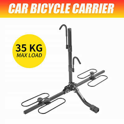 AU170.23 • Buy 2 Bicycle Bike Carrier Rack Tow Rack Rear Car Carrier 2  (50mm) Hitch Mount