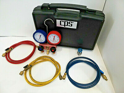 £100 • Buy CPS 2-Way Electronic Manifold + Case RA410 Gauges Refrigerant Air Conditioning