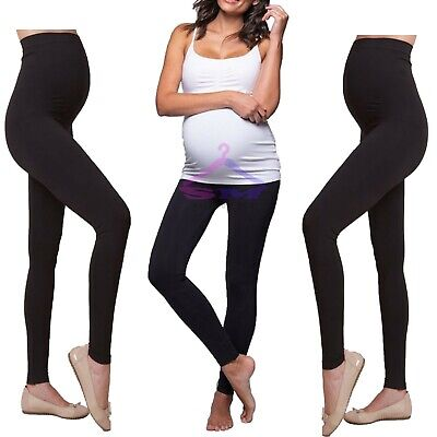 £5.89 • Buy Thick Comfortable Maternity Cotton Leggings Full Ankle Length PREGNANCY