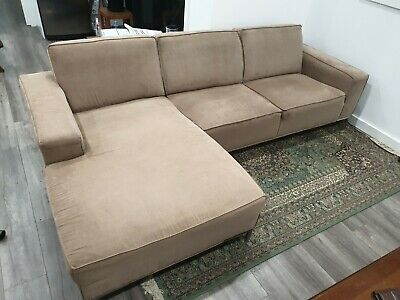 AU50 • Buy  Lounge Sofa Set 3 Seater L Shape Couch Fabric