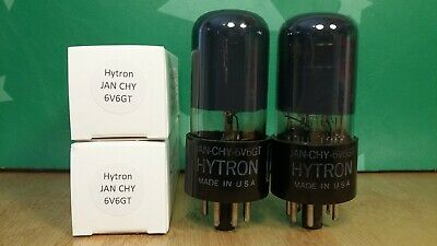 AU63.56 • Buy Matched Pair Of Hytron JAN CHY 6V6GT Gray Glass 1951 Vacuum Tubes