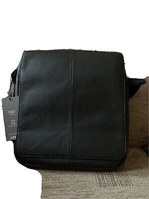 Mens Marks & Spencer Black Leather Bag  • 19.99£
