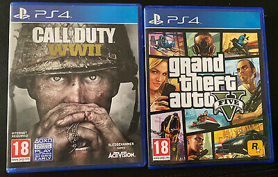 Call Of Duty WW2 PS4 & Grand Theft Auto V PS4 • 5.50£