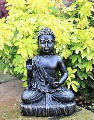 Garden Ornament Large Sitting Buddha Bronze Effect Outdoor Indoor Statue Thai • 21.85£