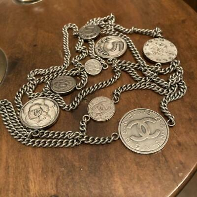 £728.51 • Buy Auth Chanel Necklace Chain Belt Coi Charm Vintage Coco Mark Cc Logo F/s