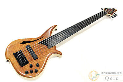 AU5083.58 • Buy Used Tune WBC-6 WN Deep Hollow Electric Bass Wood Grain System 6 String Fretless