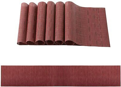AU37.27 • Buy PVC Woven Placemat Dining Table Runner Mats Kitchen Heat Resistant Pad Washable