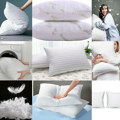 2 X Memory Foam Pillows/Firm Deluxe Pillow/Stripe/Bounce Back/Cushion Inners  • 9.99£