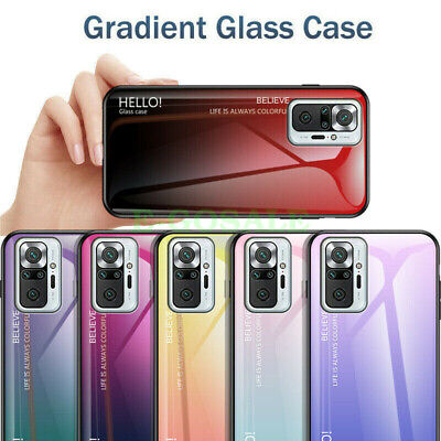 AU5.35 • Buy For Xiaomi Redmi Note 10S 10 Pro 9T 9C Gradient Tempered Glass Phone Cover Case