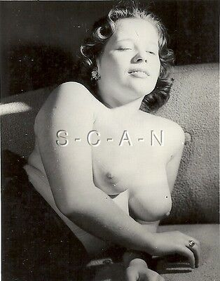 AU24.09 • Buy Original Vintage 1940s-60s Nude RP- Detroit- Well Endowed Relaxed Woman On Sofa