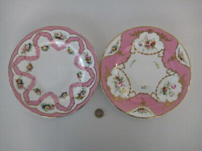 2 X MINTON MADE IN ENGLAND ORNATE 8 3/4 Inch CABINET DESSERT PLATE HAND PAINTED • 69.99£