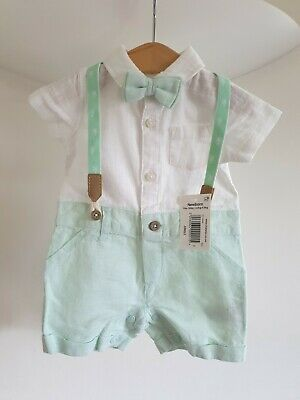 £11 • Buy Newborn Baby Boy Clothesoutfit/summer/ Bow Tie 71bs -101bs New With Tags 3 Piece