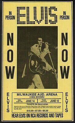£4.89 • Buy Vintage Elvis Presley Concert Milwaukee USA Print Poster Wall Art Picture A4 +