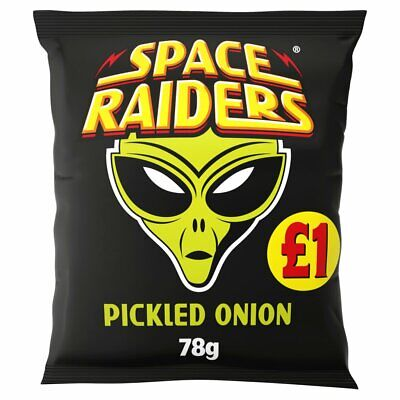 £14.99 • Buy 16 X 78g Bags Of Pickled Onion Flavoured Space Invader Snacks