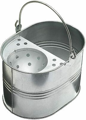£10.99 • Buy 12L Heavy Duty Metal Mop Bucket Galvanized Strong Capacity For Cleaning Buckets