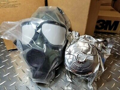 $290.32 • Buy Sealed M40 Military-Spec Gas Mask With 40mm NATO CBRN Approved Filter ALL NIB