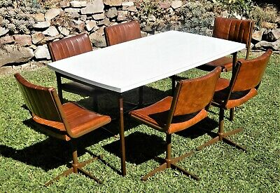 AU399 • Buy 1970's Mid-Century Modern Retro Dining Table & Chairs, Eames, Bauhaus Style