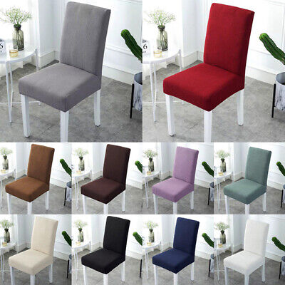 AU33.99 • Buy Stretch Dining Chair Cover Slipcover Fleece Wedding Solid 2/6/8Pcs Removable