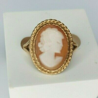 £125 • Buy Vintage 9ct Yellow Gold Cameo Ring. Size O.