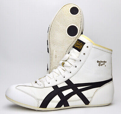 $ CDN438.94 • Buy Onitsuka Tiger 81 Wrestling Shoes Size 9.5 White Black Gold (2003) RARE Leather