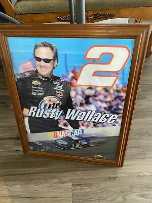 $49.95 • Buy Rusty Wallace Motion Photo Picture Framed 18.5x23 Miller Lite Beer Nascar (7372)