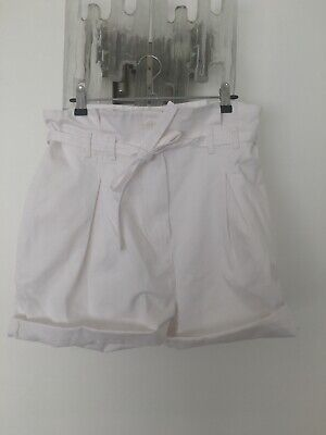 AU50 • Buy Scanlan Theodore Pleat Front Shorts - White - 10 New!!