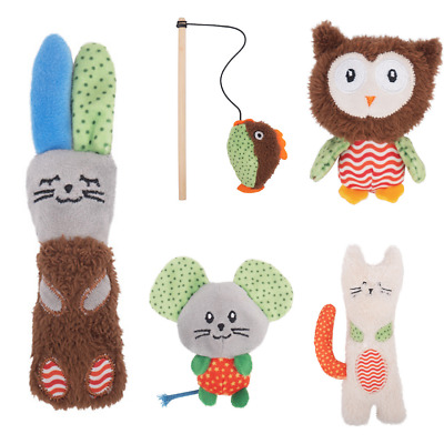 £3.50 • Buy Kitten Toys Cat Little Nippers Interactive Teaser Plush Catnip Filled Crinkly