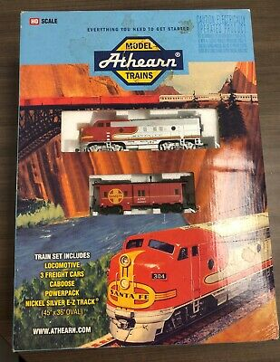 $ CDN20.02 • Buy Athearn HO Scale Model Train Set, Locomotive, 3 Freight Cars, Caboose
