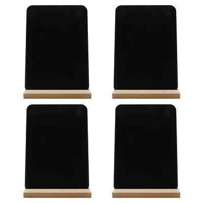 £10.09 • Buy 4 Mini Chalkboard Signs Dining Table Number Food Tags For Home Office Restaurant
