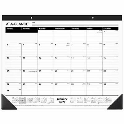 £16.43 • Buy 2021 Desk Calendar By AT-A-GLANCE Monthly Desk Pad 21-3/4  X 17  Standard Rul...