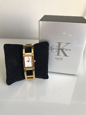 £29 • Buy CK Gold Coloured Metal Bracelet Watch Calvin Klein Jewellery