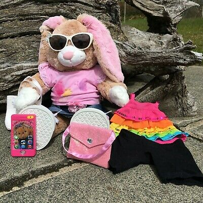 £10 • Buy Build A Bear Rabbit With Two Outfits And Accessories