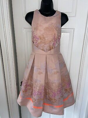 $ CDN1.71 • Buy Ariella Couture Blush Pink Stunning Floral Print Party Cocktail Dress 12 Pockets