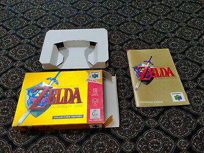 AU51 • Buy Nintendo 64 Zelda Ocarina Of Time Collectors Edition ( Box And Manual ONLY )