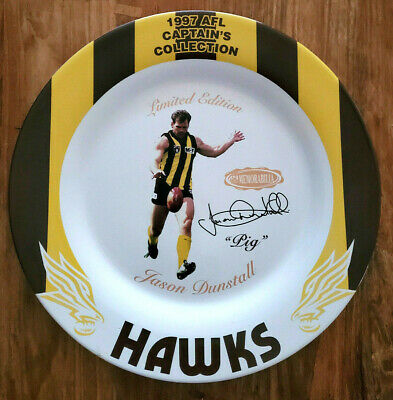 AU300 • Buy Jason Dunstall SIGNED 1997 AFL CAPTAIN'S COLLECTION PLATE LIMITED EDITION