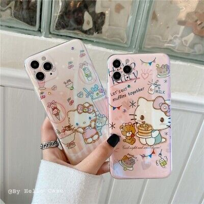 AU13.75 • Buy Cute Cartoon Shiny Pink Kitty Cat Case Cover For IPhone 12 11 Pro XS Max XR 7 8+