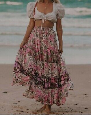 AU190 • Buy Spell And The Gypsy Desert Daisy Maxi Skirt Xs