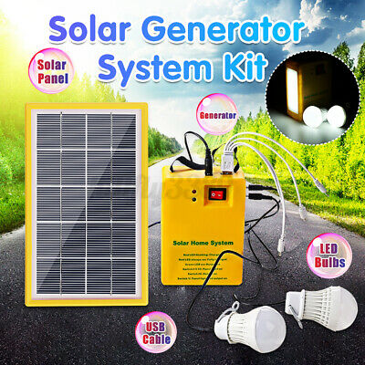 AU32.81 • Buy 4000mAh Portable Generator 3.5W Solar Panel Power System Charging Station 5