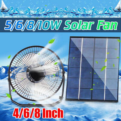 AU19.98 • Buy 5/10W 6/8  Solar Powered Fan Home Car Ventilation USB Desk Mini Fan