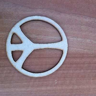 £2.10 • Buy Wooden Mdf Peace Sign Shape Embellishment Craft Blank Various Sizes E111