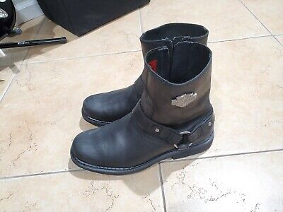 $ CDN32.16 • Buy Harley Davidson Mens Leather Motorcycle Boots Black Size 10.5