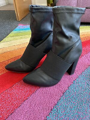 £15 • Buy Black Pull On Stretch Boots Size 6 New