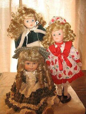 $ CDN8.06 • Buy Lot Of 3 Porcelain Dolls