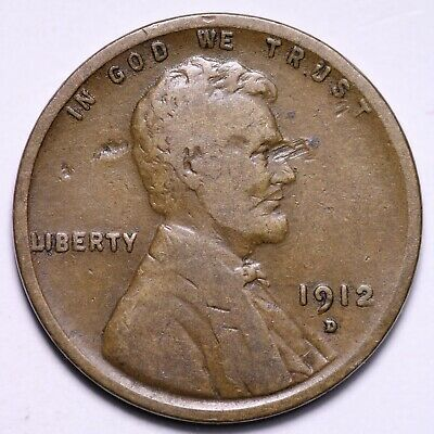 $ CDN2.05 • Buy VG 1912-D Lincoln Wheat Cent Penny FREE SHIPPING
