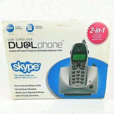 VoIP USB Cordless Dual Phone Skype Internet And Standard Telephone In One  • 19.08£