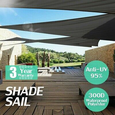 AU34.98 • Buy UV Proof Sun Shade Sail Cloth Canopy ShadeCloth Square Rectangle Outdoor Awning