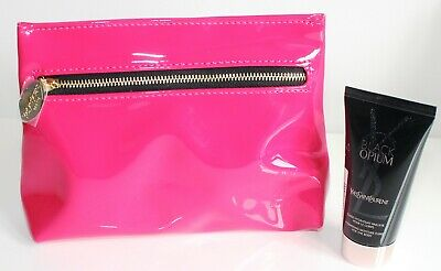 YSL Pink Patent Bag With Black Body Lotion 50ml Set • 3.99£