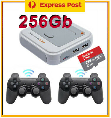 AU189.20 • Buy Super Console X PRO 256GB 50000+ Games Wireless Controllers PS1 DC PSP N64 AMIGA